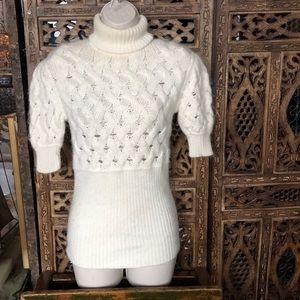 Katherine Malandrino cashmere sweater Sz M white